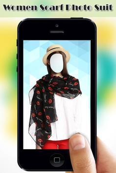 Women Scarf Photo Suit screenshot 4