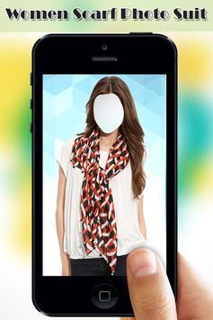 Women Scarf Photo Suit screenshot 5