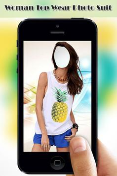 Woman Top Wear Photo Suit screenshot 3