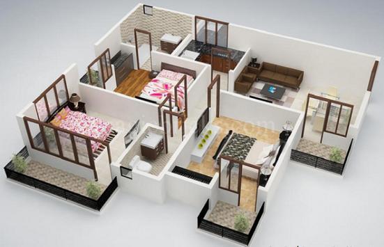Desain Rumah 3 Kamar Tidur Android Apk Download Screenshot 17