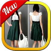 desain dress fashion icon