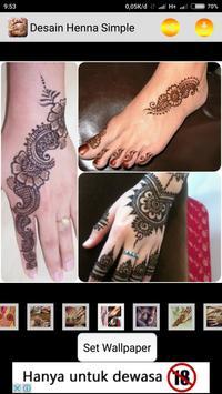 Henna Design Simple screenshot 1