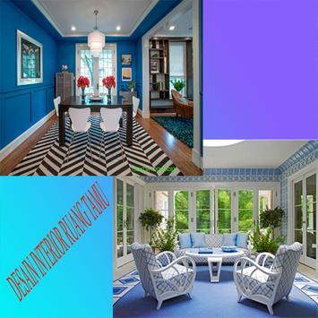 Interior design living room poster