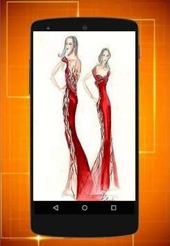 Design of dress seketsa screenshot 3