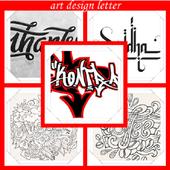 art design letter icon