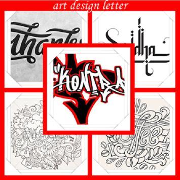 art design letter poster