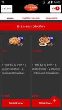 Dream pizza Nanterre apk screenshot