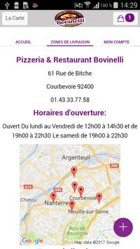 Bovinelli pizzeria apk screenshot