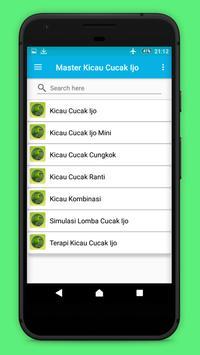 Master Kicau Cucak Hijau Gacor apk screenshot
