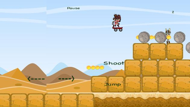 Desert Ninja- Skateboarder screenshot 4