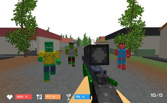 Pixel Zombies- Block Warfare poster