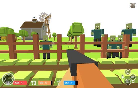 Pixel Zombies- Block Warfare apk screenshot
