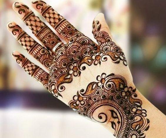 arabic unique mehndi design