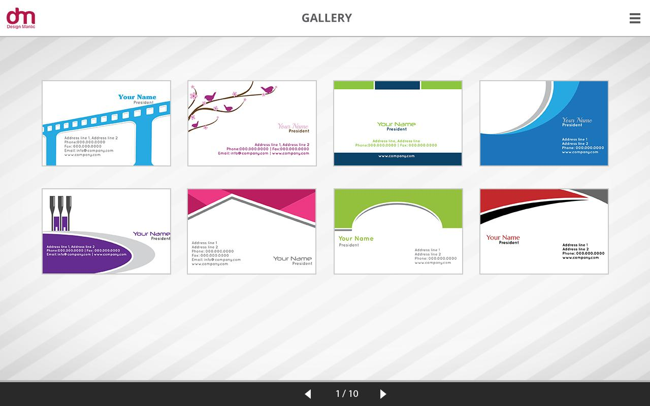 Business card maker gallery business card template business card maker apk download free business app for android business card maker apk screenshot colourmoves reheart Image collections