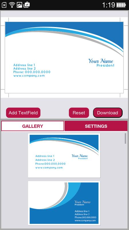 Free business card maker apk download free business app for free business card maker apk screenshot reheart Choice Image