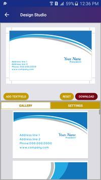 free business card maker screenshot 2 - Free Business Card Maker