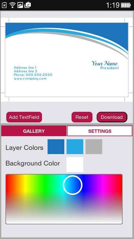 Free business card maker apk download free business app for free business card maker apk screenshot colourmoves