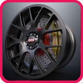 Design of car wheelss icon