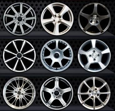 Design of car wheelss poster