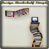 Design Bookshelf Simple icon