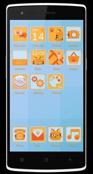 Tiger Cat Theme - Be Launcher apk screenshot