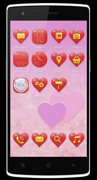 Hearts Theme for Be Launcher apk screenshot