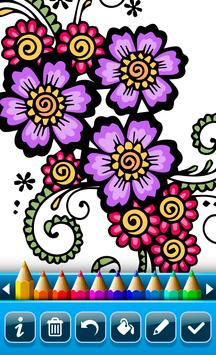 Mehndi Designs Coloring Book Apk Screenshot