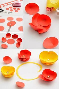 DIY Flower Craft Designs poster