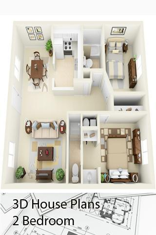 3d House Plans 2 Bedroom For Android Apk Download