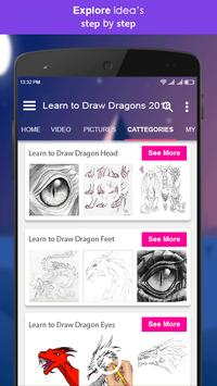 Learn to Draw Dragons 2018 screenshot 2