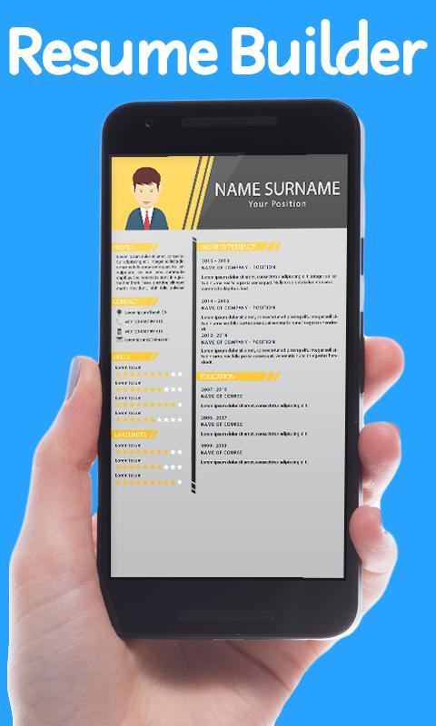 Reanudar Creador CV Maker & CV Templates for Android - APK Download