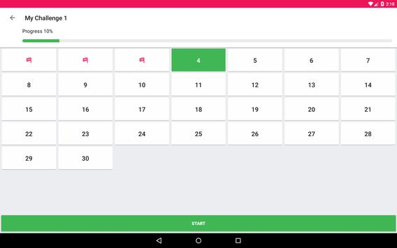 Home Workout - 30 Day Fitness Challenge apk screenshot