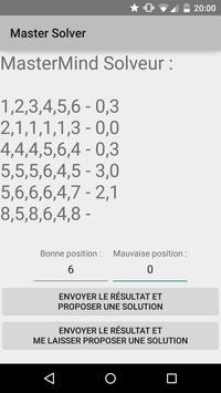 MasterMind Solver apk screenshot