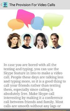 Free Guide imo Video Chat Call screenshot 4