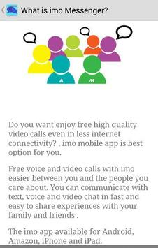 Guide Free imo Video Chat Call screenshot 1