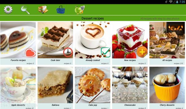Dessert recipes apk screenshot