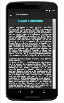 Sweet California Song & Lyrics apk screenshot