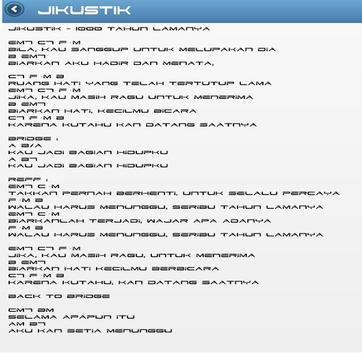 Lirik Lagu Jikustik apk screenshot
