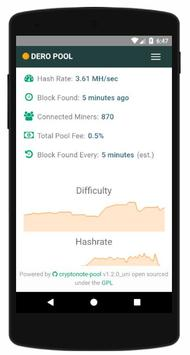 Dero Mining Monitor apk screenshot