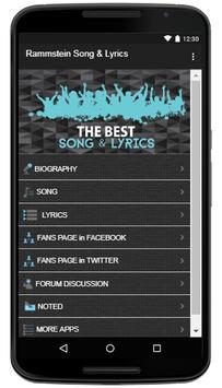 Rammstein Song & Lyrics screenshot 1