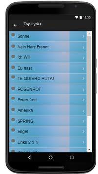 Rammstein Song & Lyrics screenshot 3
