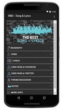 RBD Song & Lyrics screenshot 1