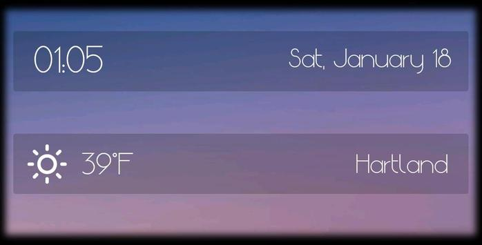 Minimal Zooper Time & Weather apk screenshot