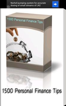 1500 Personal Finance Tips poster