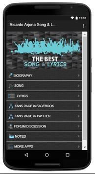 Ricardo Arjona Song & Lyrics screenshot 1
