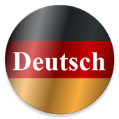German phrasebook with sound, learn speak tutorial icon