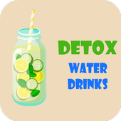 Detox Water Drink Chemical Compound icon