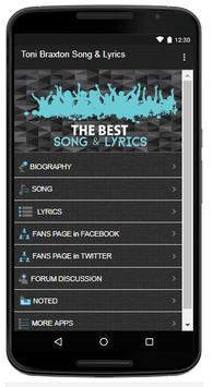 Toni Braxton Song & Lyrics screenshot 1