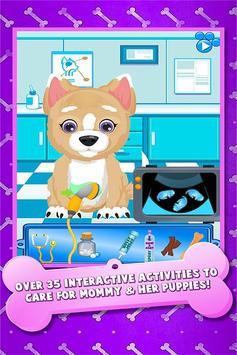 Newborn Baby Puppy & Mommy Dog Virtual Pet Animals poster