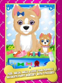 Newborn Baby Puppy & Mommy Dog Virtual Pet Animals apk screenshot